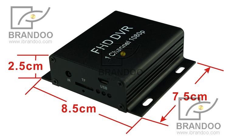 Car Security System 1080P 1CH Mobile DVR Kit Support H.264 Including Dome IR Car Camera For Taxi Vans