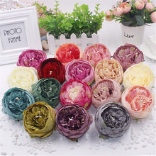 10 pcs 8cm high quality artificial peony flower heads DIY silk flower head for wedding home party decoration flowers(China)