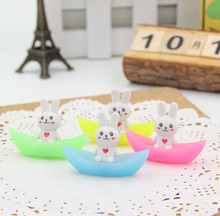 4 pcs/lot Novelty cute rabbit ship luminous rubber eraser kawaii creative stationery school supplies papelaria gifts for kids