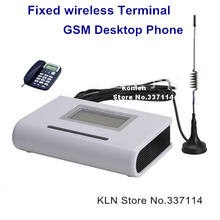 Home Fixed Gsm Phone Wireless Sim Card Terminal Connects Desk Phone or PSTN Alarm Panel  to Make Call.