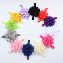 hot sale fashion Baby Toddler Child  Infant Lace Flower Elastic Headband Hair Head Bow Band Headwear hairband Accessories