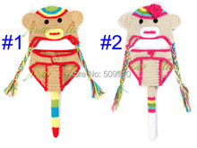 Retail Children accessories Newborn Photography Props Handmade Crochet Baby Monkey Hat and Shorts set 0-12 Months BH-1086