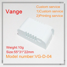 10pcs/lot Injection plastic material box IP54 fireproof PC plastic enclosure case for LED driver 55*31*22mm(China)