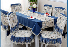Square tablecloth fabric Mediterranean chair sets of sets of small square table round table coffee table style jj020