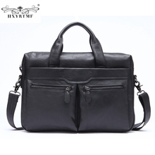 Men's Handbag Crossbody Bag Briefcase Genuine Leather Business Men's Bag Casual Cow Leather Shoulder Bag Solid Soft Male Totes(China)