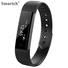 Smartch ID115 Bluetooth Smart Wristband Fitness Tracker Pedometer Vibration Alarm Bracelet Fashion Smart Band For Sport(China)