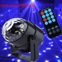 New generation LED Crystal Magic Ball 3W Mini RGB Stage Lighting Effect Lamp Bulb Party Disco Club DJ Light Show US/EU Plug