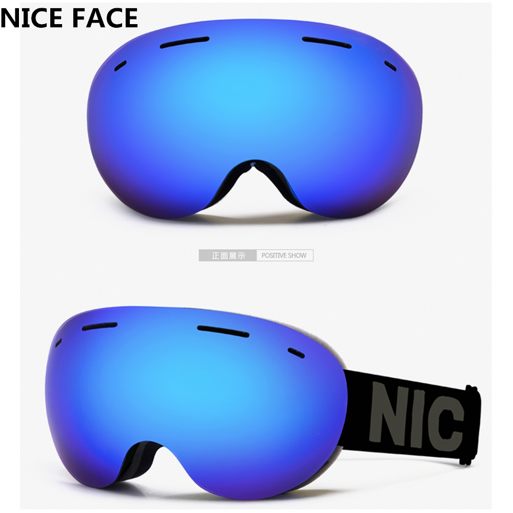 NICE FACE Men and Women Ski Mountaineering Snowboard Goggle Anti UV400 Windproof Double Layer Big Vision Can Set Myopia Glasses<br><br>Aliexpress