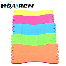 10 Pcs/lot EVA Foam Wire Board Fishing Winding Line Board Pesca Fishing Tackle Accessories 12cm FA-307(China)