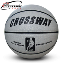Genuine article CROSSWAY basketball personalized green gray Wearable Soft leather basketball Indoor and outdoor games 705
