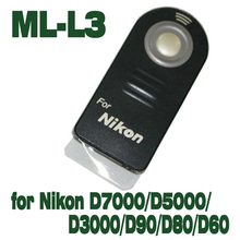 Infrared Remote Control ML-L3 MLL3 for Nikon D40 D50 D60 D70 D80 D90 D3200 D5100 D5200 D7100 D7000 J1 V1 ir remote control
