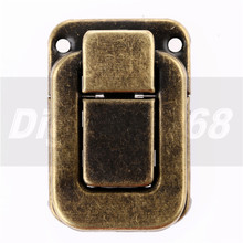 Hasp Drawers Latch Buckle Jewelry Gift Wine Box Wood Latch Box Solid Clasp Buckles Agraffe Lock Hardware Door Furnitures 47*33mm