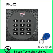 Good quality card reader KR602 Wiegand access control system RFID card and keyboard reader  IP64 waterproof smart card reader