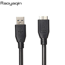 New arrival High quality and speed Black color AM-MICRO B USB 3.0 USB line USB 3.0 AM to MICRO B Cable 50CM 1M 180CM(China)