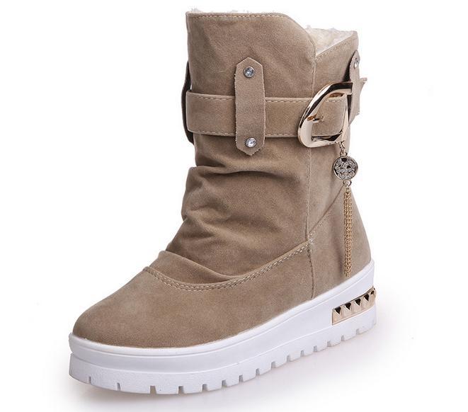 Donne uomini breve stivali Botas femininas 2017 nuovo arrivo inverno stivali da neve caldo stivali stivaletti piattaforma di mod<br><br>Aliexpress
