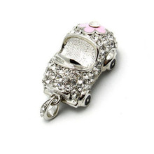 2/4/8/16/32 golden jewellery crystal element car model USB Memory Card Stick Flash Drive  S221