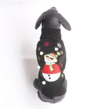 2016 Pet Dog Christmas Sweater Knit Cool Sunglasses Snowman Sweater Snowflake Pattern  Christmas Dog Clothes Pet Coat