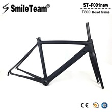Chinese Factory Direct Sales Carbon Frames,700C Road Bicycle Carbon Frames T800 Super Light Racing Carbon Framesets(China)