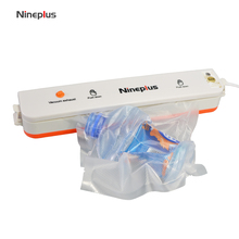 Nineplus Household Best Food Vacuum Sealer Saver Home Automatic Vacuum Sealing Packer Plastic Packing Machine Bags 20 piece free(China)