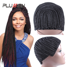 Plussign Cornrow Wig Cap For Crochet Braids Easy To Sew Ins Box Braided Wig Cap Crochet Weave Cap For Making Wigs 1-5 Pcs/Lot(China)