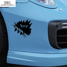 15cm*15cm Horror Dark Eyes Gaze Sharp Claws Funny Car Sticker for Camper Van Door Motorcycle Laptop Kayak Waterproof Vinyl Decal