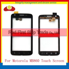 "10 Pcs/Lot High Quality 4.0"" For Motorola Atrix 4G MB860 Touch Screen Digitizer Sensor Front Glass Lens Black Free Shipping"