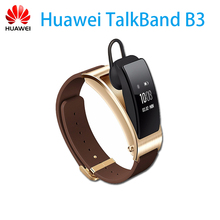 Genuine Huawei TalkBand B3 Talk Band B3 Bluetooth Smart Bracelet Fitness Wearable Sports Compatible smart Mobile Phone Wristband(China)