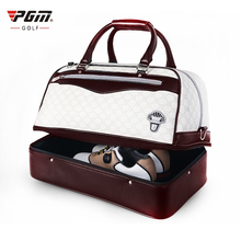 2017 Classic PGM Golf Shoes Bags Men PU Leather Boston Clothing Bag Golf Women Black Golfbag Sports Equipment Free Shipping(China)