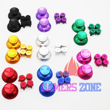 Thumstick Joysticks W/ 4 Bullet Buttons For PS3 Controller Red Blue Green Gold Silver(China)
