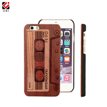 U&I Retro Tape Laser Engrave Cell Phone Case for iPhone 5 5S 6 6S 7 PLUS RoseWood Flower Rose Wood Funda Tree Factory Housing