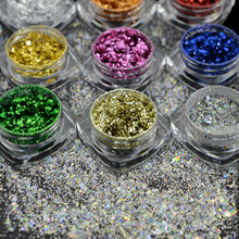 1 box Fashion Nail Glitter Rainbow Sparkly 3D Flake Sequin Nail Art Mirror/Chameleon Decorations Manicure Galaxy Tips CH326