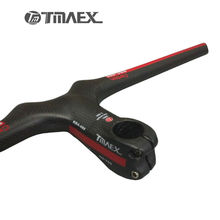 TMAEX- Carbon Handlebar+Stem 6 Degrees Mtb Cycling Handlebars Carbon Bar Flat Integrated Handle bar Bicycle accessoires