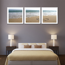 New arrival 3 pieces canvas painting beauty beach seascape for living room wall art pictures home pub bar coffee room decor(China)