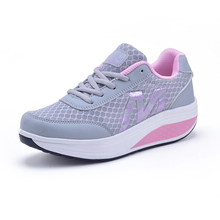 HOT Summer Fitness Shoes Women's Sport for Women Swing Wedges platform zapatos mujer canvas trainers tenis feminino Toning Shoes