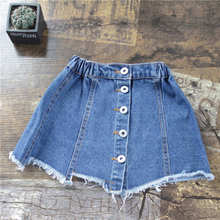 Baby Girl Skirt Summer Denim Button Skirts For Girls Toddler Party Vintage Kawaii Infant Skirt Children's Clothing