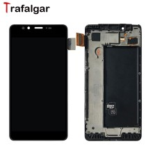 "For Microsoft Nokia Lumia 950 LCD Display Touch Screen Digitizer Assembly With Frame RM-1106 Replacement For 5.2"" Lumia 950 LCD(China)"