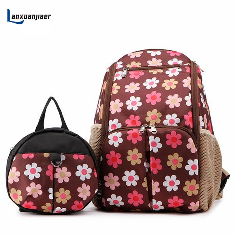 Lanxuanjiaer Baby  bag Diaper Backpack Nappy Mothers backpacks bag  fashion Multiple large capacity waterproof nylon bolsa <br>