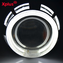 2.5 inch Angel eyes Devil eyes dual universal headlight motorcycle aluminium HID bi xenon Fish eye light H4 For Motorbike Light