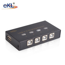 EKL 4 Port USB 2.0 Selector Switch 4 PC share 1 USB Device Like Printer Flash Driver Mouse Keyboard