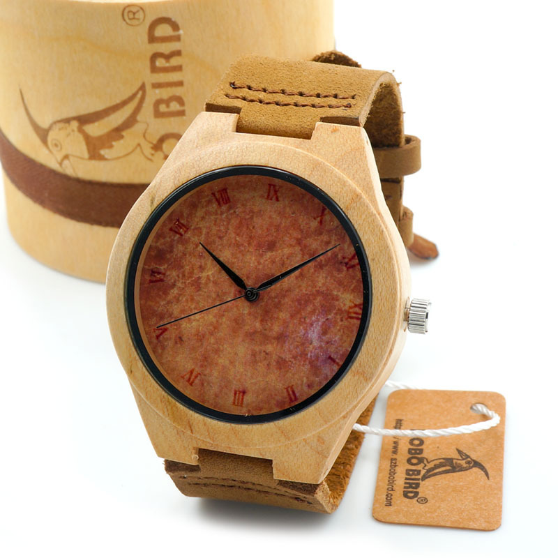 2015 New Arrival Christmas Gift Wood Watch Mens Luxulry Brand  quartz-watch relojes hombre 2015 with Gift Box<br><br>Aliexpress