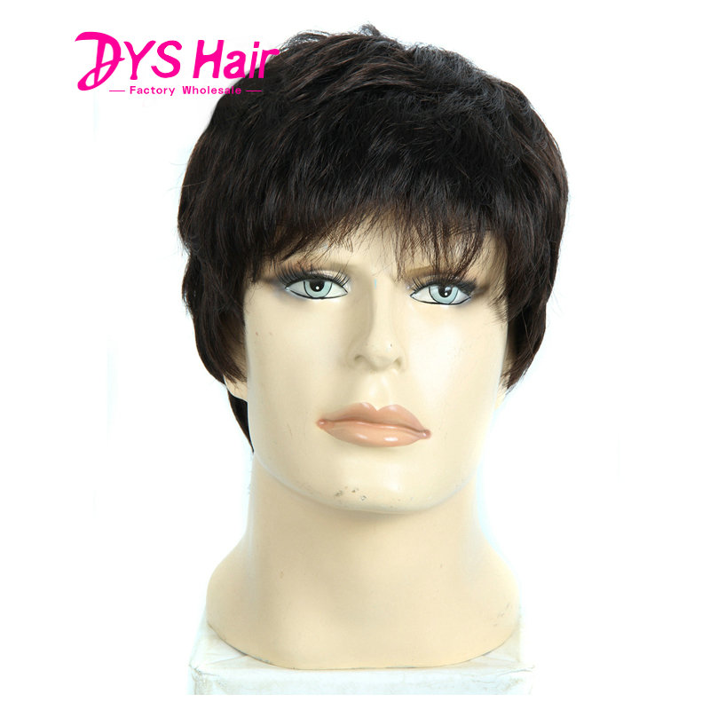 Free Shipping Short Black Wigs Big Wavy Curly Synthetic Hair Mens Hair Wig Capless Heat Resistant Synthetic Wigs For Mens Wig<br><br>Aliexpress