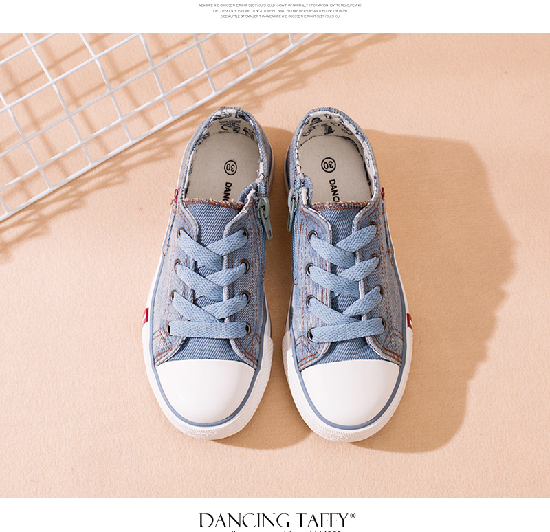 Denim Jeans Boys Sneakers Kids Shoes Girls New 2018 Brand Autumn Fashion Zip Canvas Breathable Casual Rubber Sole Children Shoes 1701 (6)