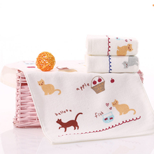 (3 piece/lot) Cute Cartoon paint 100% Cotton Face Sport Towel For Children Baby Square 50x25cm In Bathroom Factory Direct