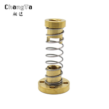 CHANGTA Threaded Rod Lead Screws DIY CNC 3D Printer Parts T8 Anti Backlash Spring Loaded Nut Elimination Gap Nut for 8mm(China)