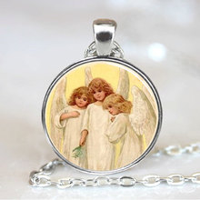 (1 piece/lot) Three Little Angels Handmade Necklace Pendant