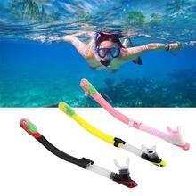 Adult Full Dry Diving Snorkeling Scuba Equipment Silicone Snorkel Breathing Tube