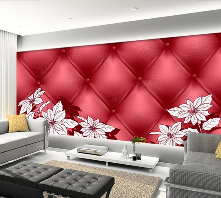 Custom floral wallpaper, 3D stereoscopic wallpaper for living room backdrop restaurant bedroom waterproof wallpaper<br>