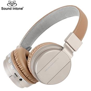 Sound Intone P2 Sans Fil Bluetooth Casque Stéréo Casques avec Micro Doux Bouche-Oreille Écouteur Soutien TF Carte FM Radio pour Téléphones
