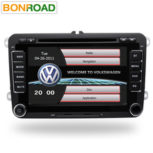 "2Din 7"" Car DVD Player for Passat/POLO/GOLF/Skoda/Seat/Leon With Mirrorlink Radio FM GPS Navigation DVR Support Free Map"