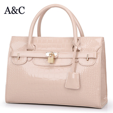 Hot Sale Good Quality Big Women Handbag Patent Leather Women Bag 2016 Brand Designer Elegant Female Messenger Bags Sac a Main
